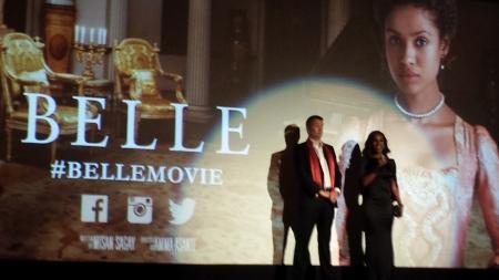 Damian Jones & Amma Asante introducing the film at the Paris Theater