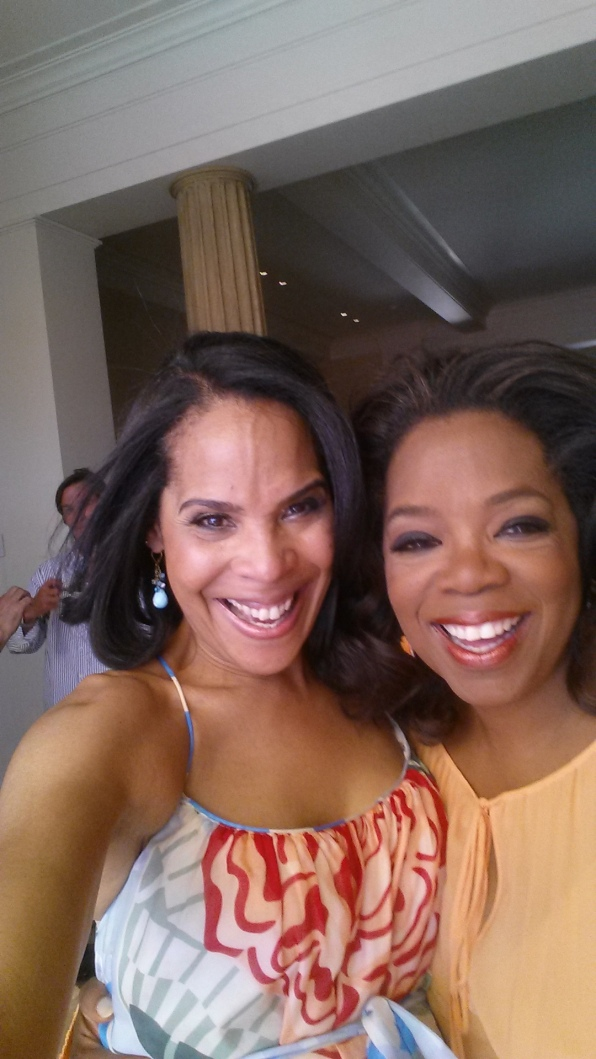 At Oprah's house in California